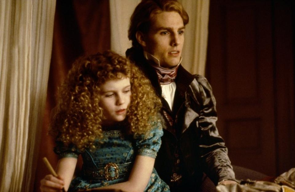 кадры из фильма Интервью с вампиром: Вампирские хроники Кирстен Данст, Том Круз,