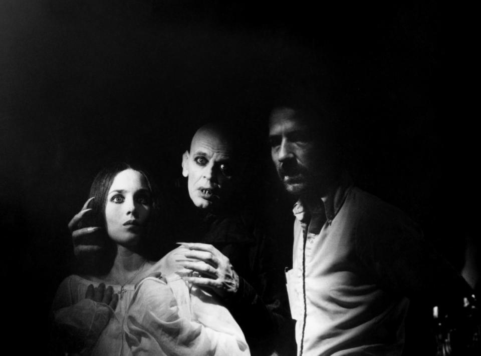 со съемок Носферату: Призрак ночи Вернер Херцог, Клаус Кински, Изабель Аджани,