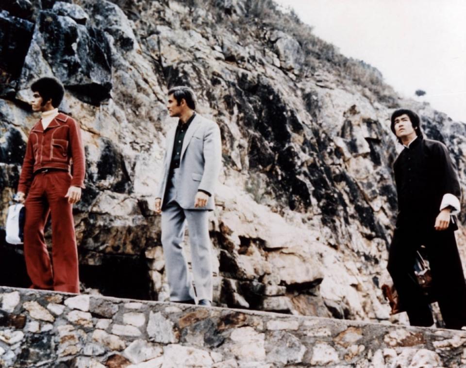кадры из фильма Выход дракона Джим Келли, Джон Сэксон, Брюс Ли,