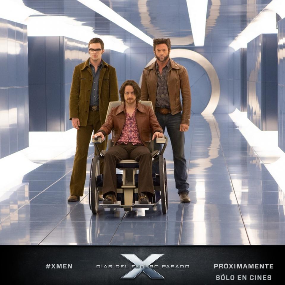 кадры из фильма Люди Икс: Дни минувшего будущего Николас Холт, Джеймс МакЭвой, Хью Джекмен,