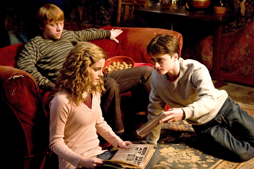 кадры из фильма Гарри Поттер и Принц-полукровка Эмма Уотсон, Руперт Гринт, Дэниэл Рэдклифф,