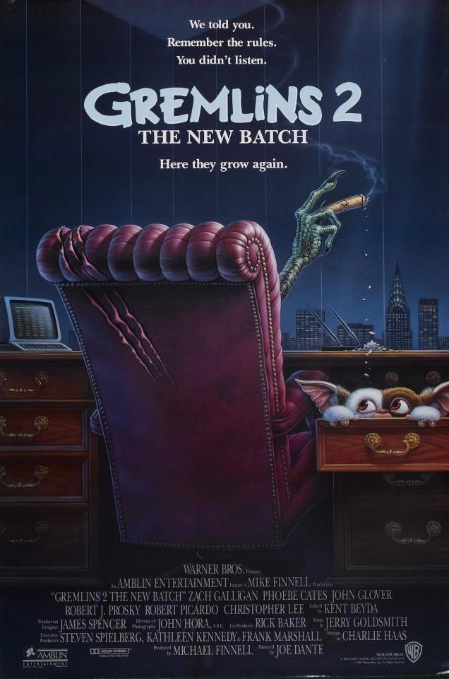 плакат фильма постер Гремлины 2: Новенькая партия