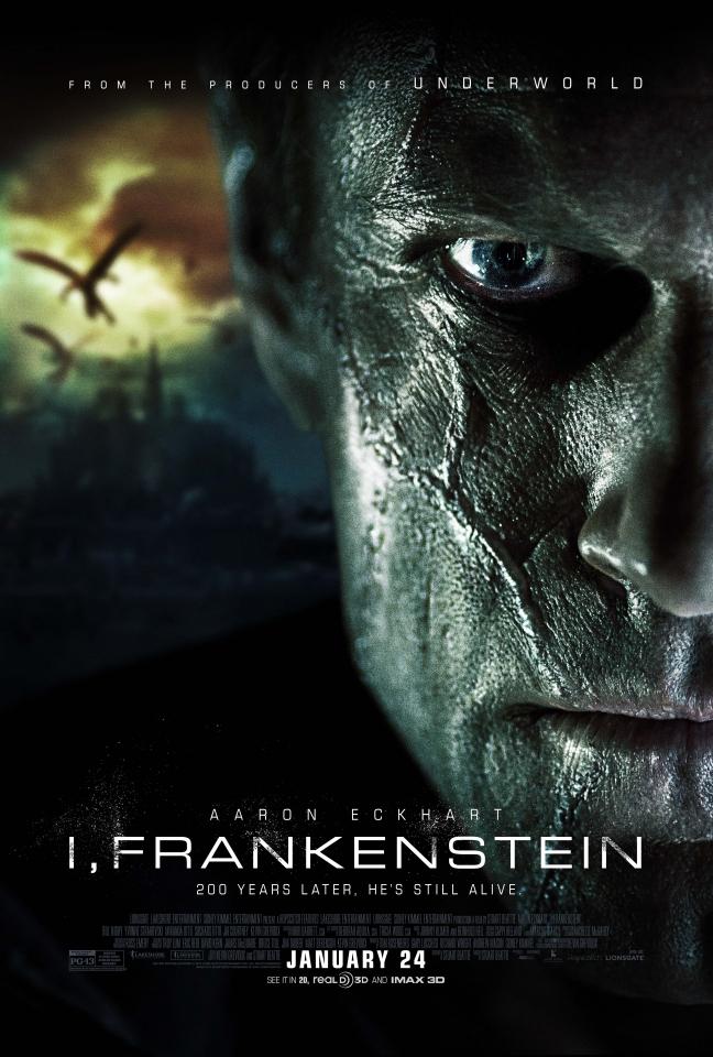 плакат фильма постер Я, Франкенштейн