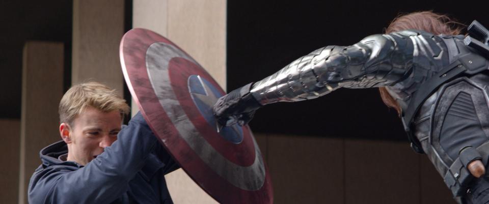 кадры из фильма Первый Мститель: Другая война Крис Эванс, Себастьян Стэн,