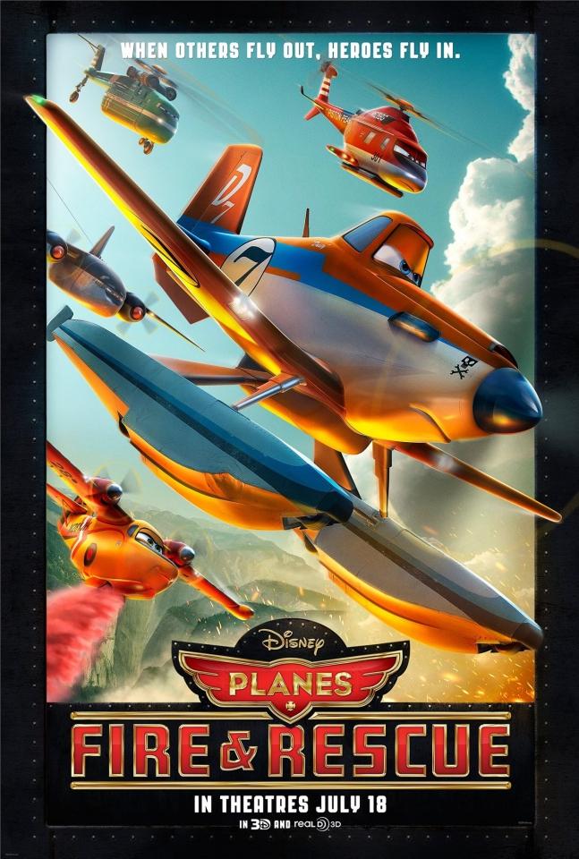 плакат фильма постер Самолёты: Огонь и вода