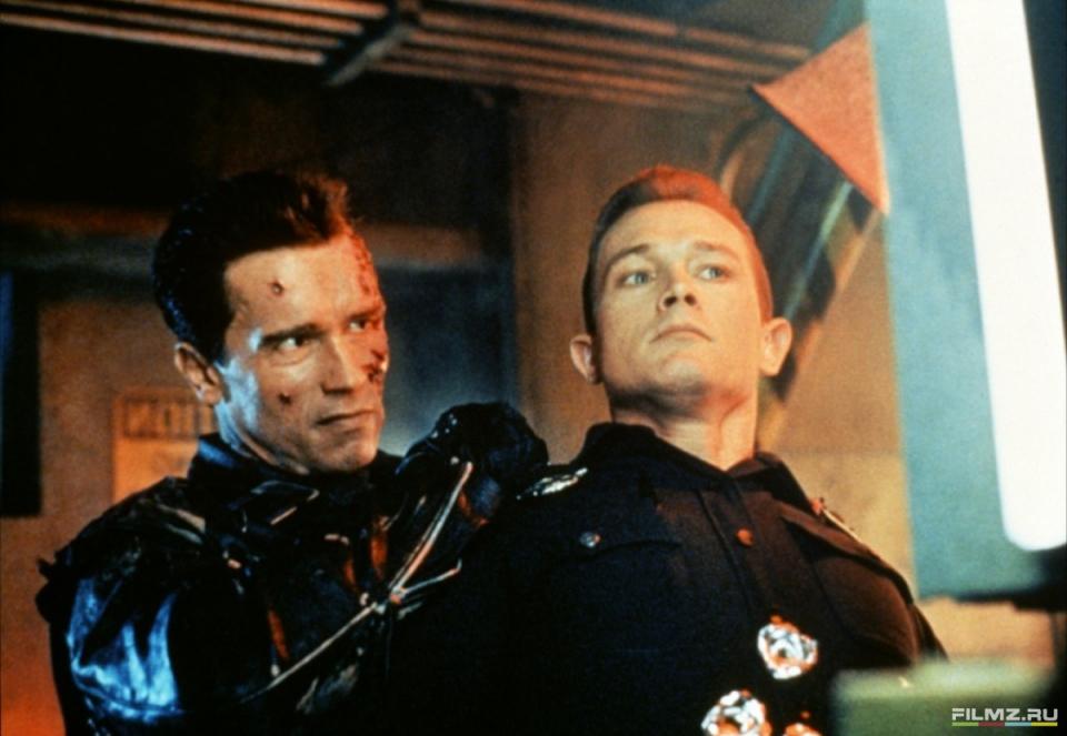 кадры из фильма Терминатор 2: Судный день Роберт Патрик, Арнольд Шварценеггер,