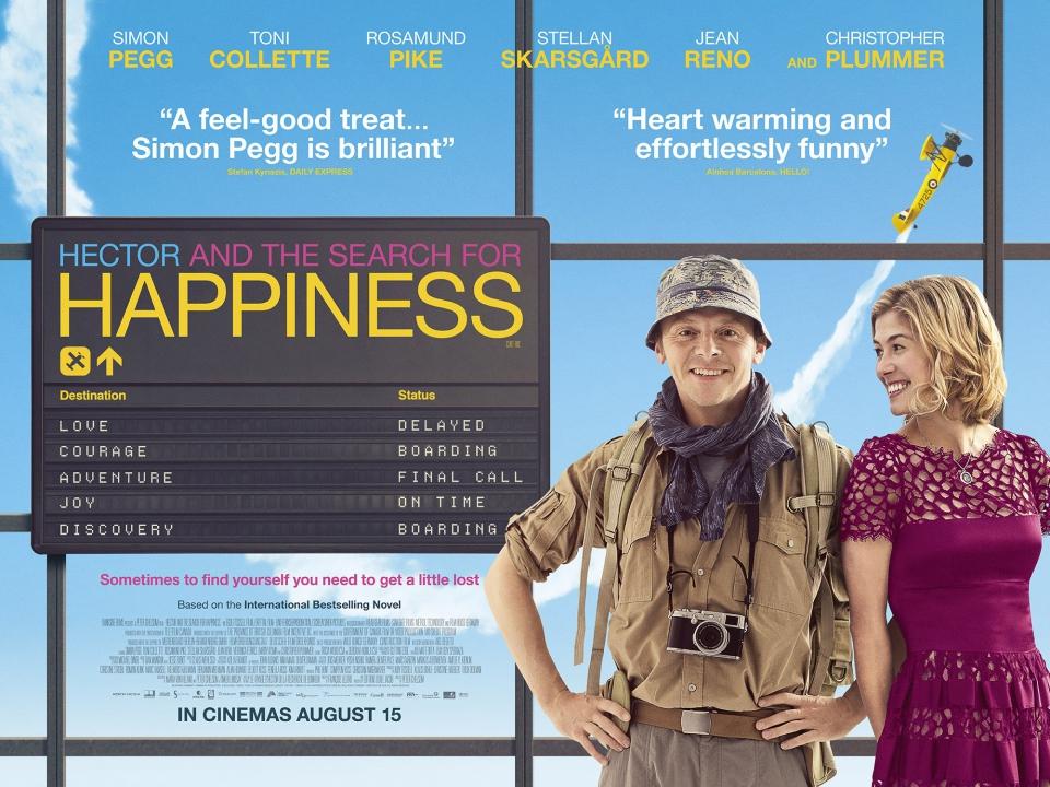 плакат фильма биллборды Путешествие Гектора в поисках счастья