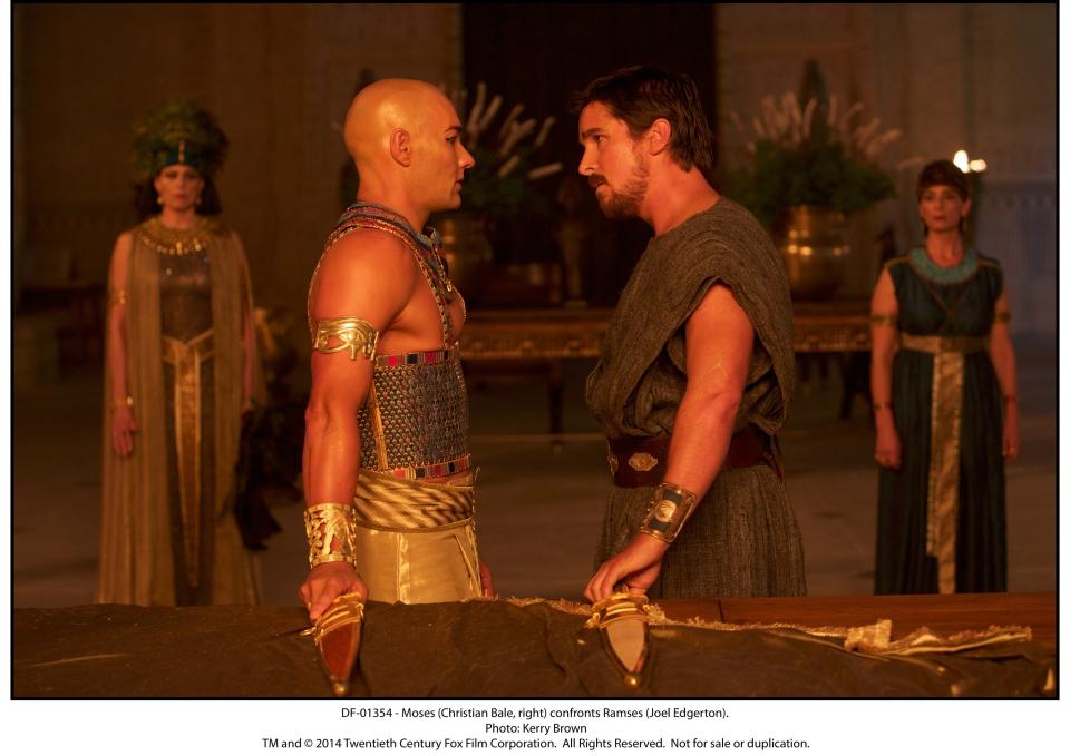 кадры из фильма Исход: Цари и боги Джоэл Эджертон, Кристиан Бэйл,