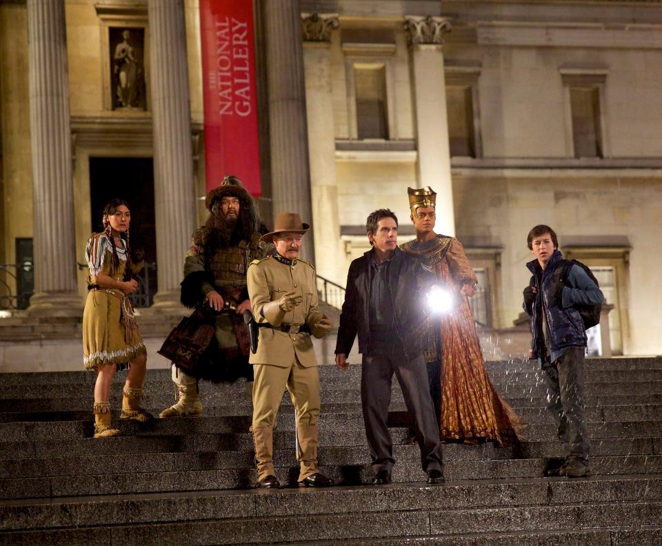 кадры из фильма Ночь в музее: Секрет гробницы Робин Уильямс, Бен Стиллер,