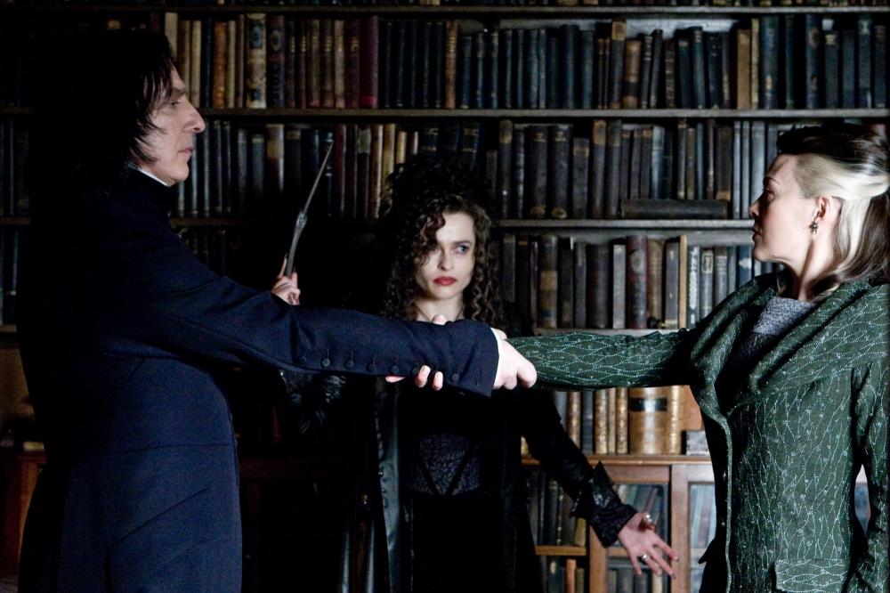 кадры из фильма Гарри Поттер и Принц-полукровка Хелен МакКрори, Хелена Бонэм Картер, Алан Рикман,
