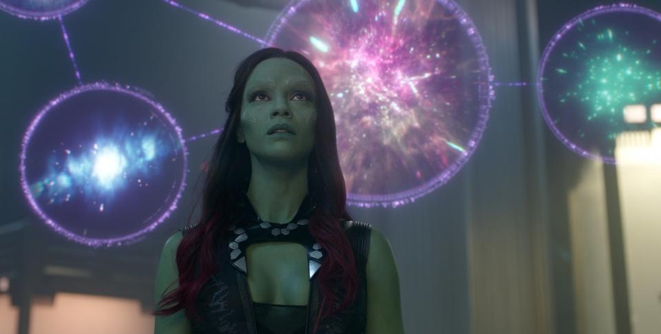 кадры из фильма Стражи Галактики Зои Салдана,
