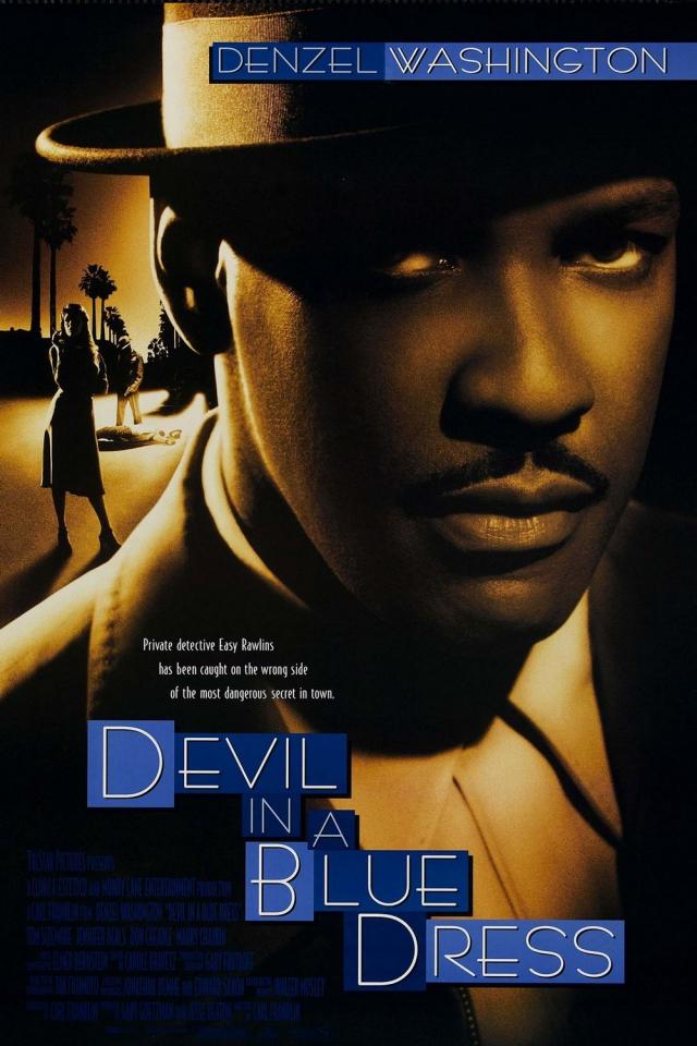 плакат фильма постер Дьявол в голубом платье