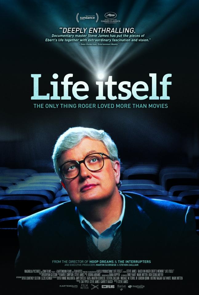 плакат фильма постер Роджер Эберт. Это и есть жизнь