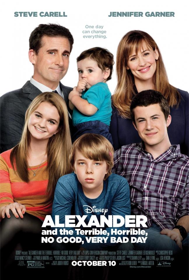 плакат фильма постер Александр и ужасный, кошмарный, нехороший, очень плохой день