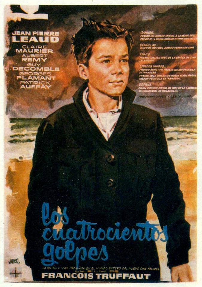 плакат фильма постер Четыреста ударов