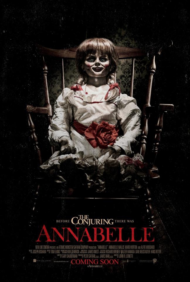 плакат фильма постер Проклятие Аннабель