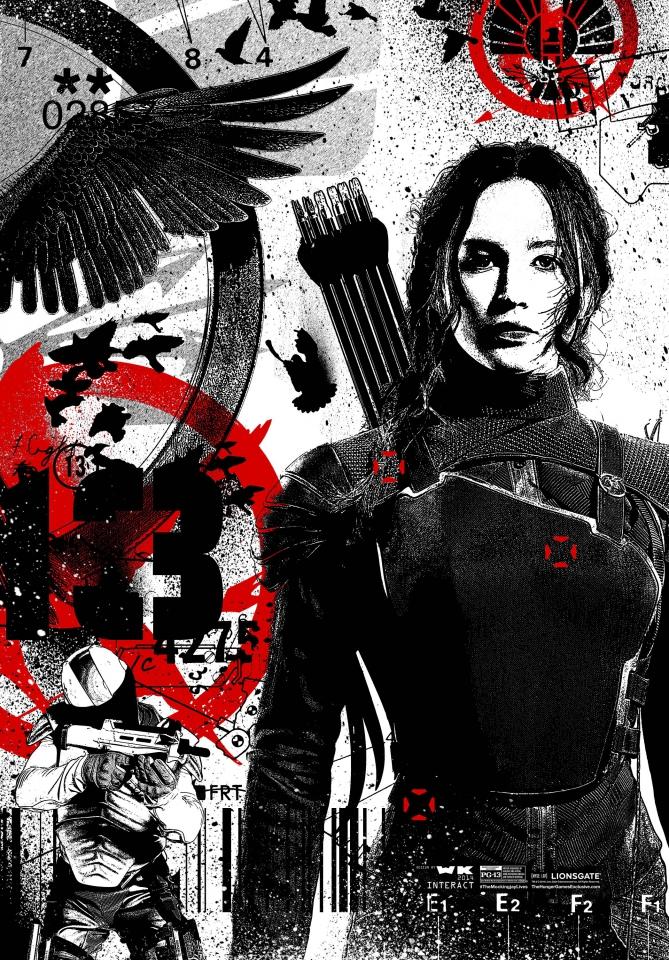 плакат фильма арт-постеры Голодные игры: Сойка-пересмешница. Часть 1