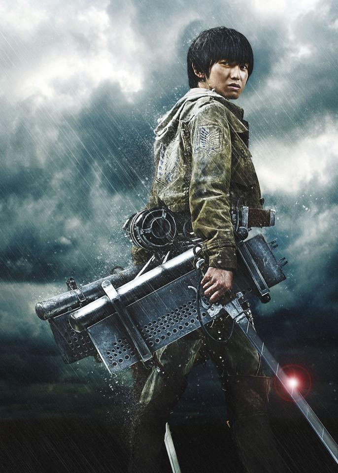 плакат фильма характер-постер textless Атака Титанов. Фильм первый. Жестокий мир