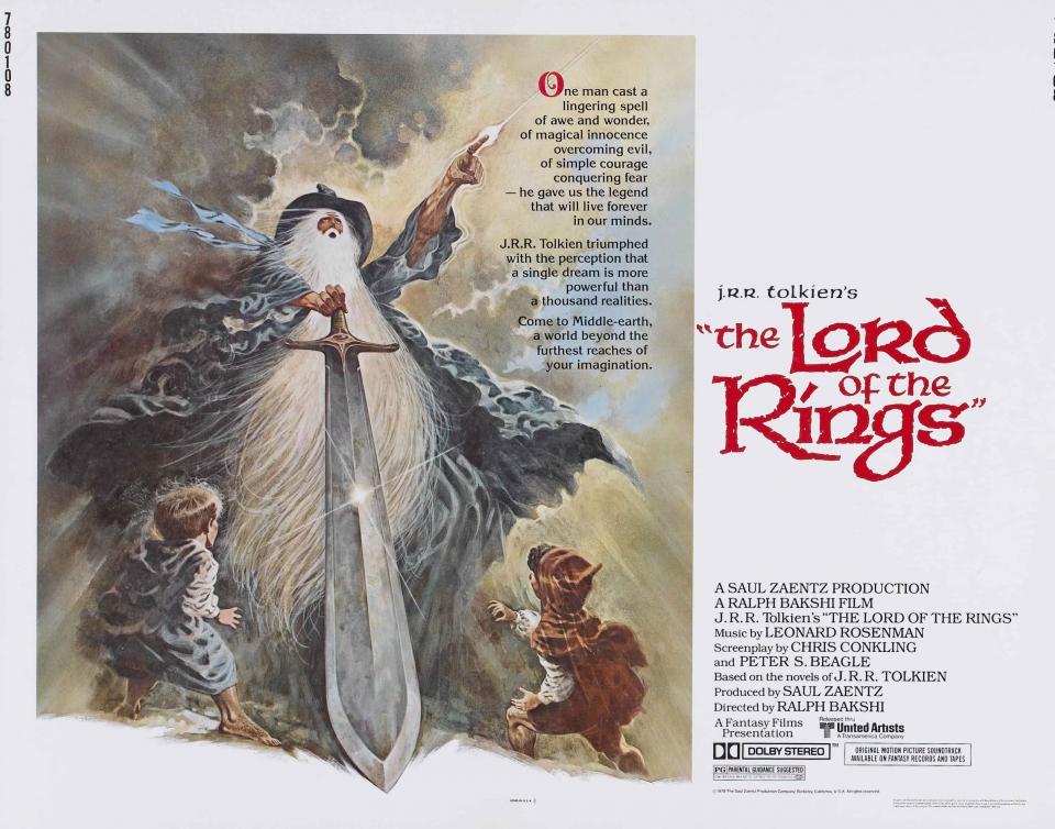 плакат фильма баннер Властелин Колец