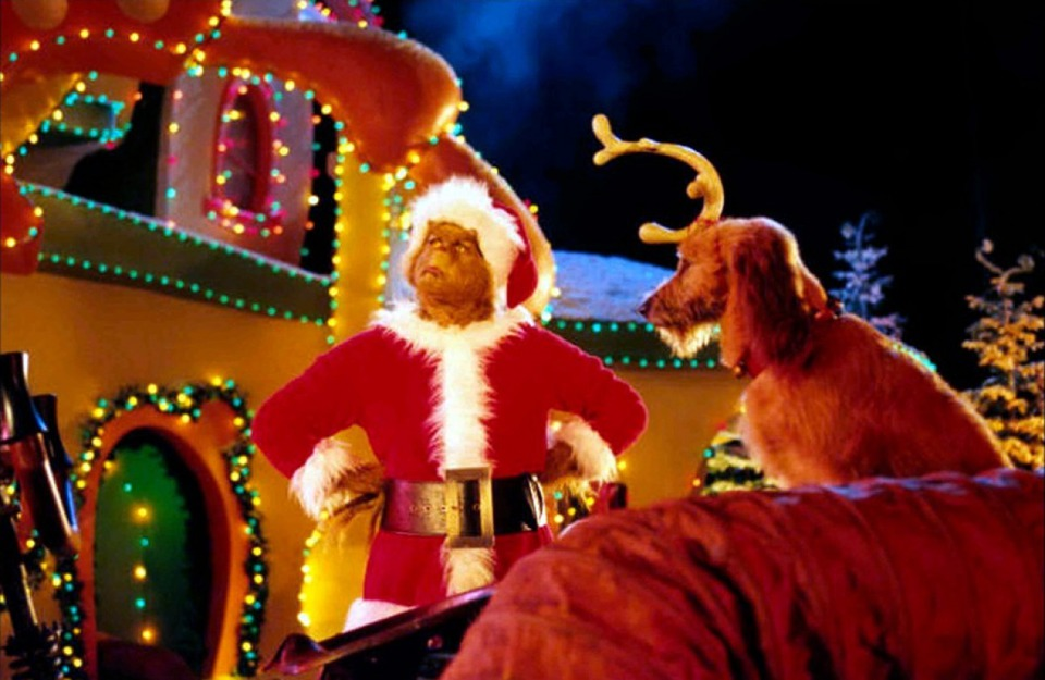 кадры из фильма Гринч — похититель Рождества Джим Кэрри,