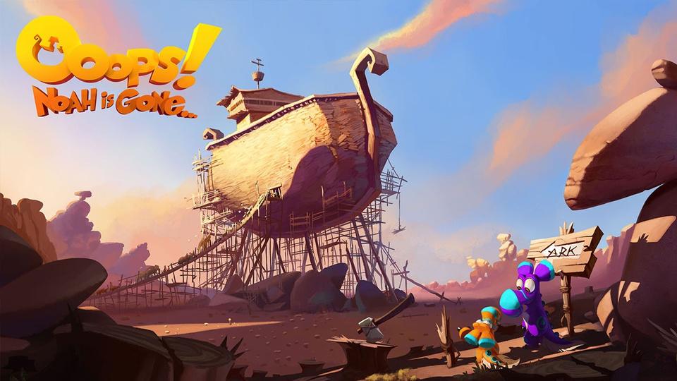 Смотреть мультфильм Упс… Ной уплыл! онлайн в