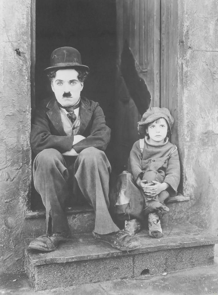 кадры из фильма Малыш Джеки Куган, Чарли Чаплин,