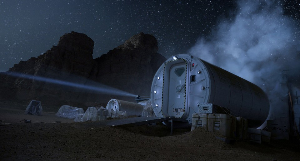 кадры из фильма Марсианин