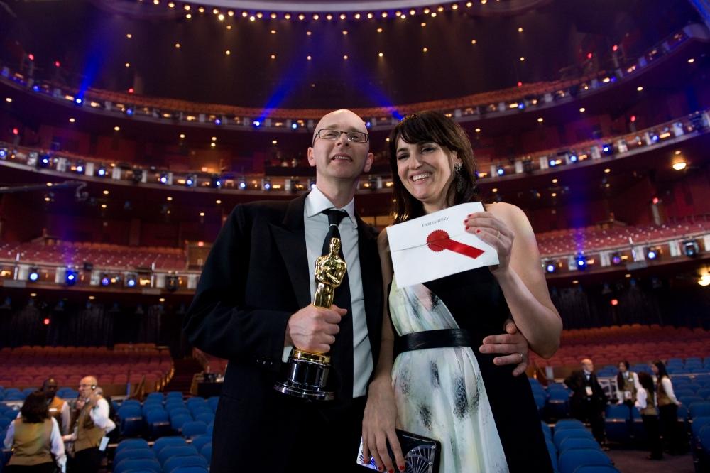 со съемок Оскар 2009
