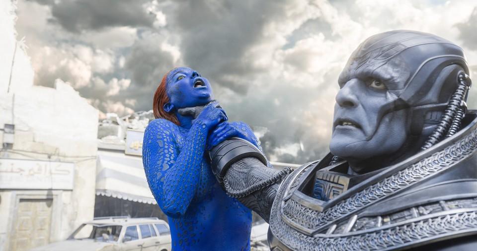 кадры из фильма Люди Икс: Апокалипсис Дженнифер Лоуренс, Оскар Айзек,