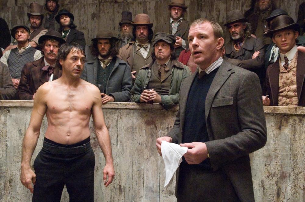 со съемок Шерлок Холмс Гай Ричи, Роберт Дауни-мл.,