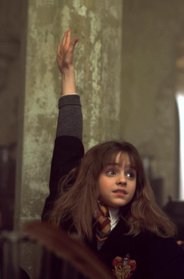 кадры из фильма Гарри Поттер и Философский камень Эмма Уотсон,