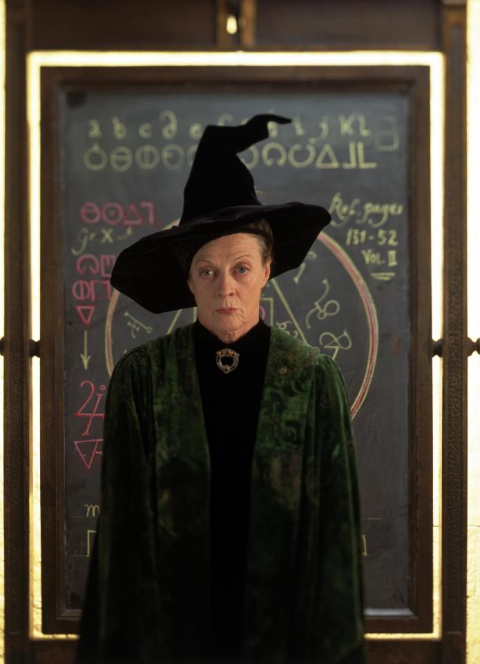 кадры из фильма Гарри Поттер и Философский камень Мэгги Смит,