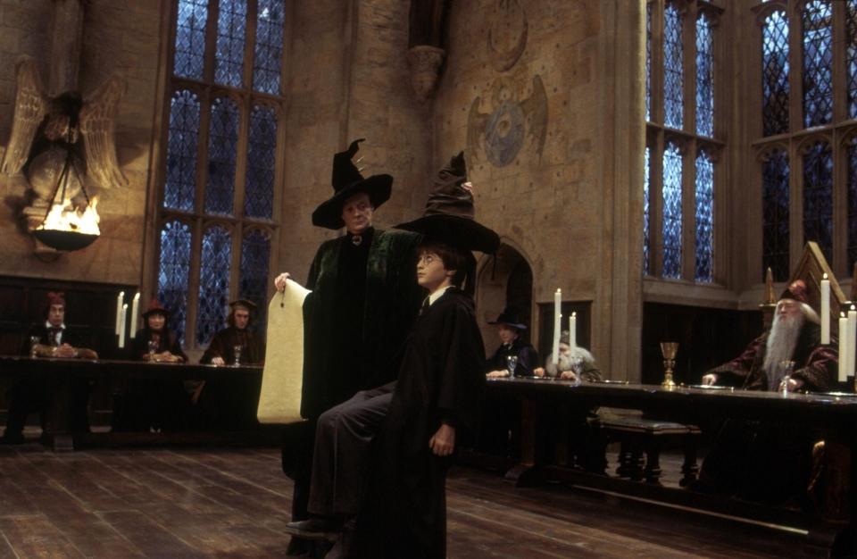 кадры из фильма Гарри Поттер и Философский камень Мэгги Смит, Дэниэл Рэдклифф, Уорвик Дэвис, Ричард Харрис,