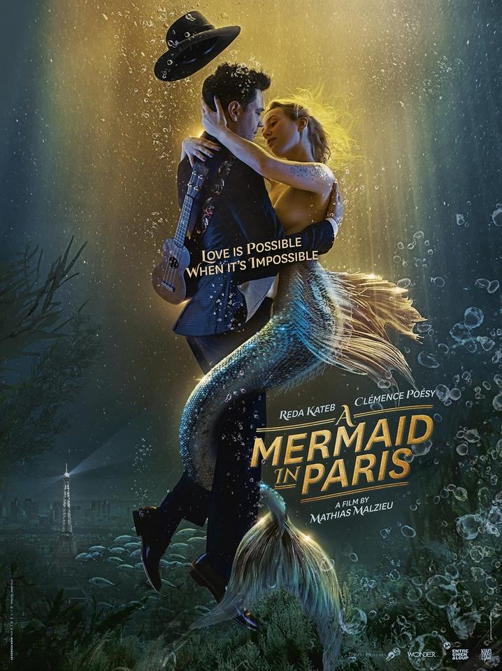 плакат фильма постер Русалка в Париже