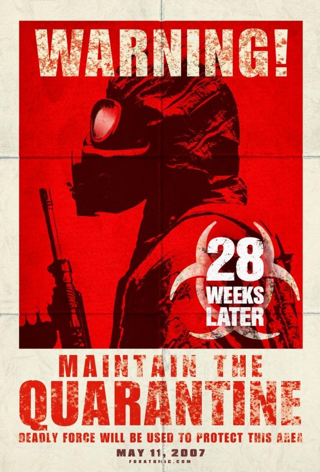 плакат фильма 28 недель спустя