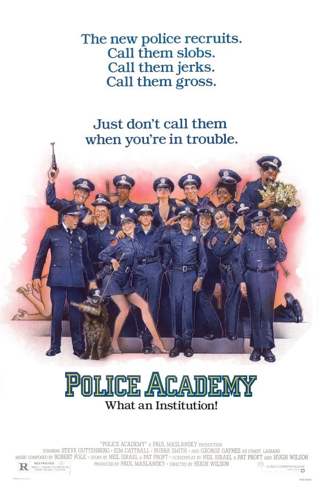 плакат фильма постер Полицейская академия