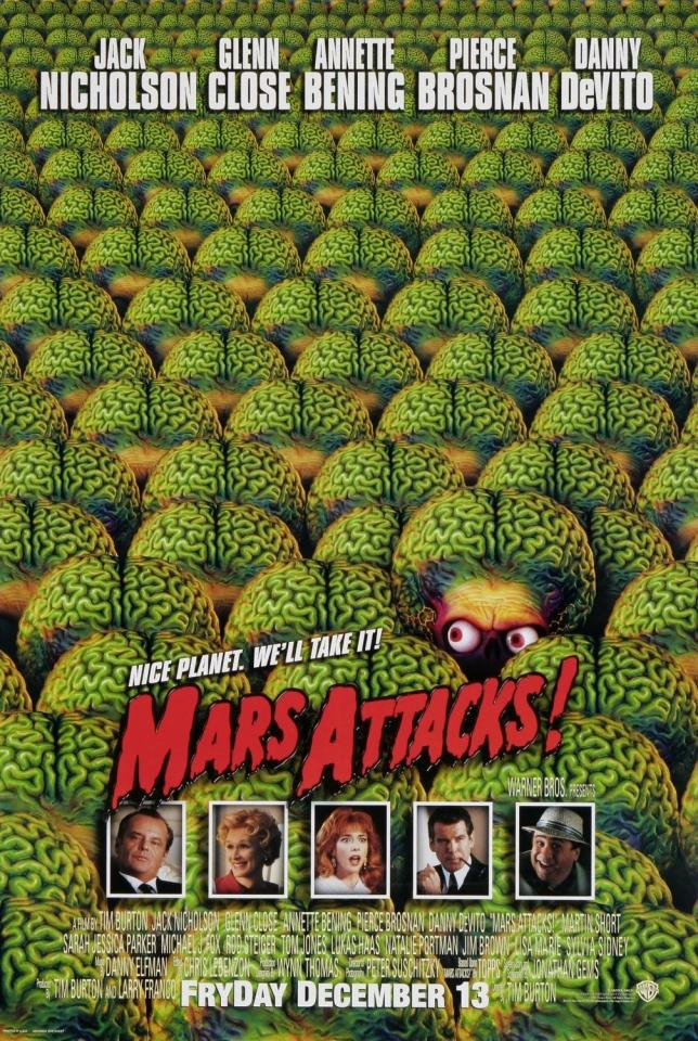 плакат фильма Марс атакует!