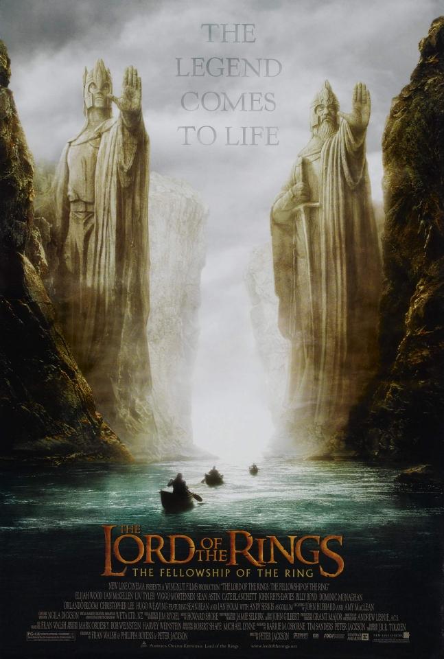 плакат фильма Властелин Колец: Братство кольца