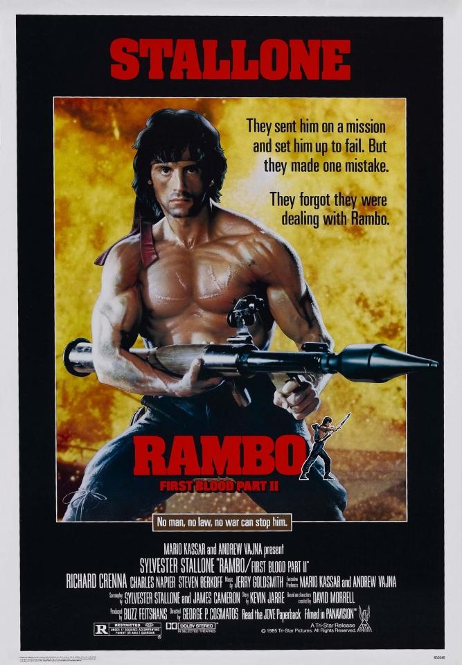 плакат фильма Рэмбо: Первая кровь, часть II