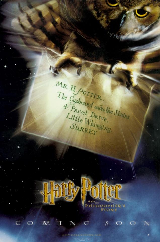 плакат фильма тизер Гарри Поттер и Философский камень