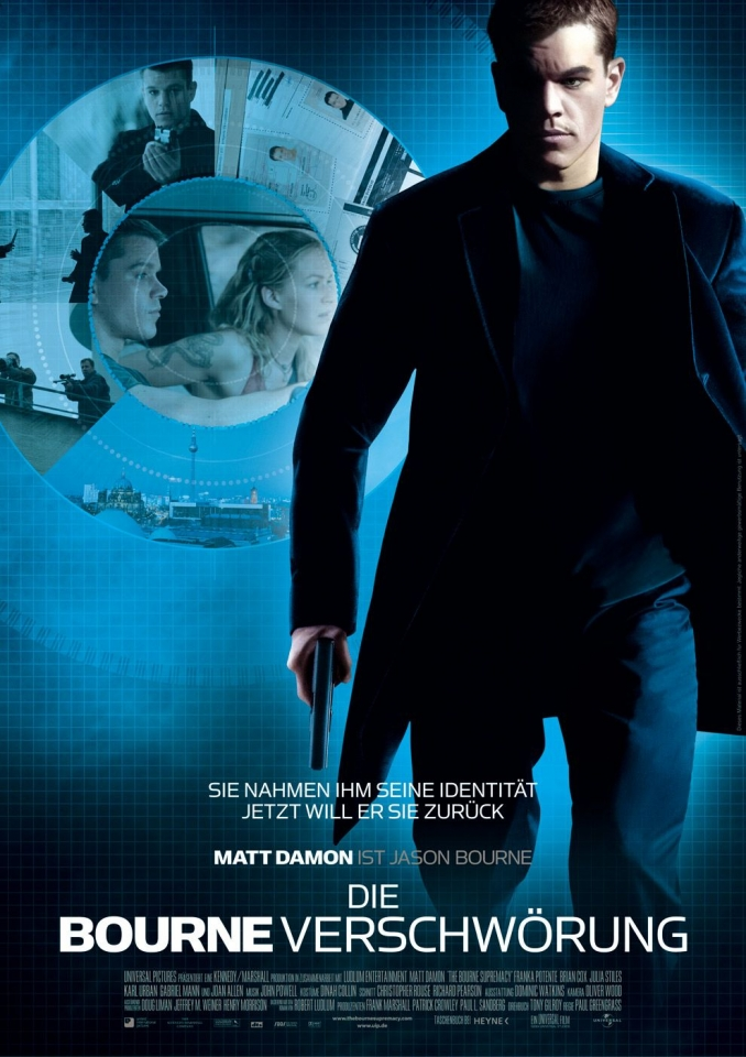 плакат фильма Превосходство Борна