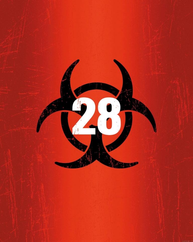 плакат фильма 28 дней спустя
