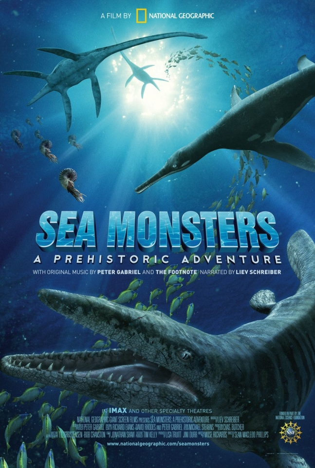 плакат фильма Чудища морей 3D