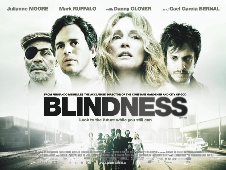 плакат фильма биллборды Слепота