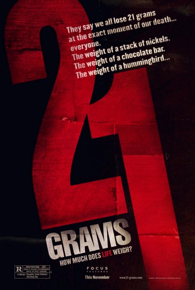 плакат фильма 21 грамм