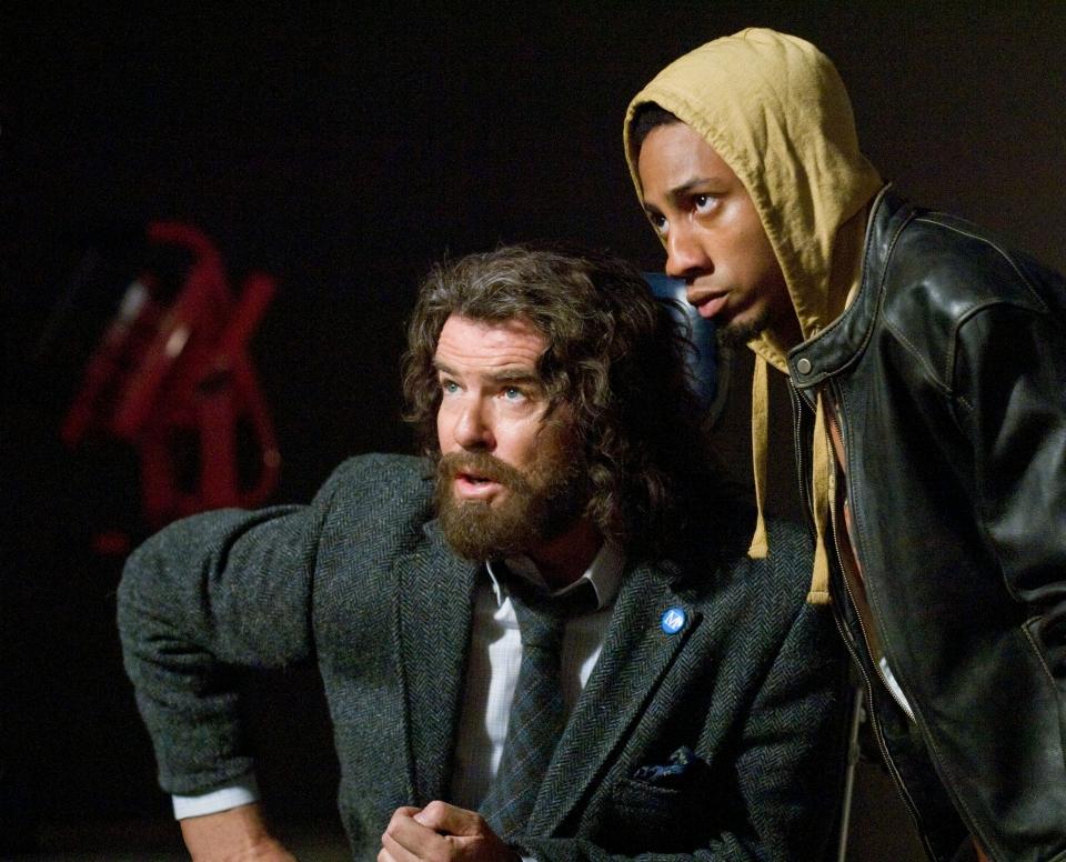 кадры из фильма Перси Джексон и похититель молний Пирс Броснан, Брэндон Т. Джексон,