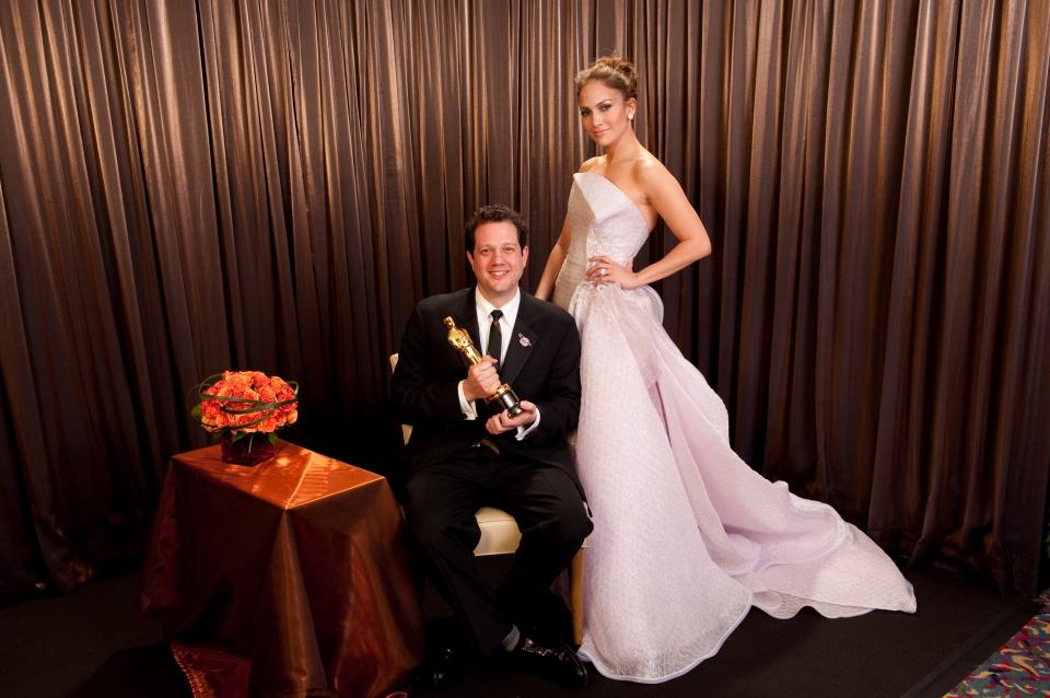 лауреаты Оскар 2010 Майкл Джьяккино, Дженнифер Лопес,