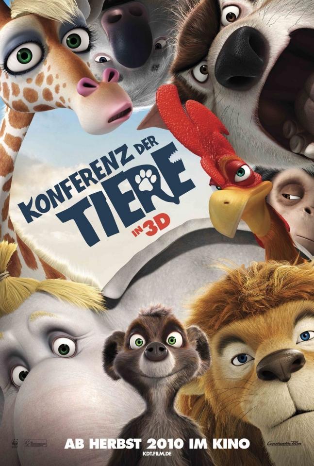 плакат фильма Союз зверей в 3D