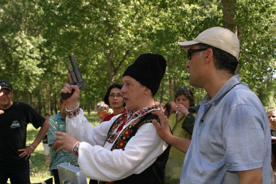 со съемок Заяц над бездной Михаил Ефремов, Тигран Кеосаян,