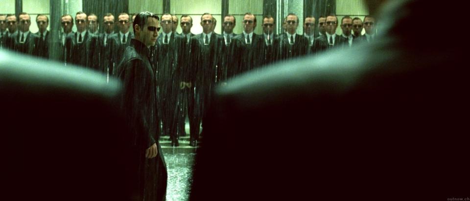 кадры из фильма Матрица: Революция Хьюго Уивинг, Киану Ривз,